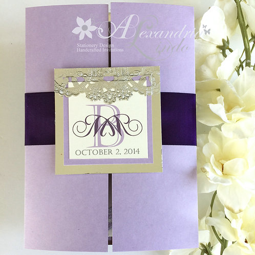 Lilac/Lavender Thank you Cards