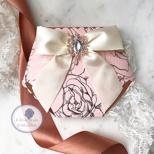 Rose Gold and Pink Floral Diaper