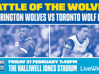 BYP goes to Warrington Wolves v Toronto