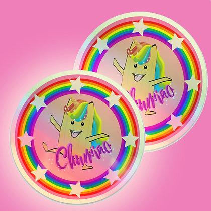 COMBO HOLO Rainbow Pride Sticker