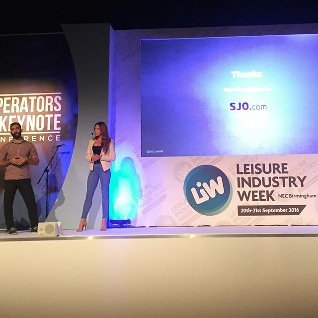 It's DAY 2 of _leisureindustryweek in _necbirmingham ._Here's a pic from yesterday's talk with #SolO