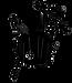 Logo des Vrillés Rock Celtique, représente un mélange de cornemuse, guitare, accordéon, grosse caisse