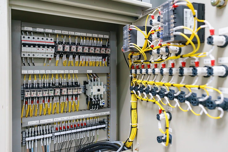 Electric control panel enclosure for pow