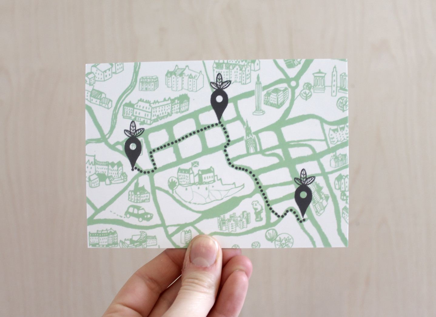 Rootmap, Tour + Taster route cards, 2016.