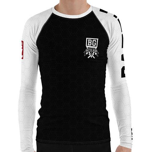 V3 White Long Sleeve NO GI / MMA Rashguard Male & Female