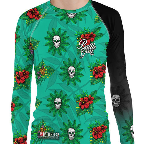 Skulls and Flowers Long Sleeve NO GI MMA Rashguard