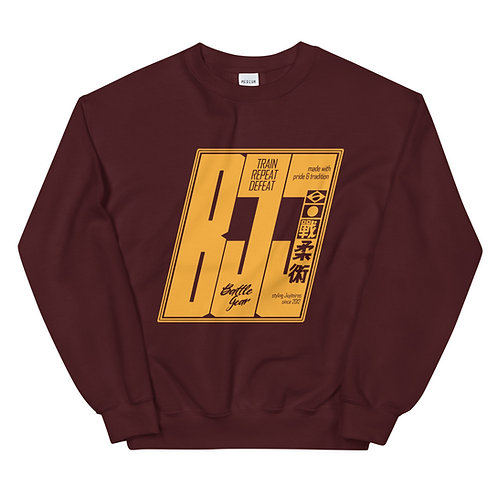 BJJ Icon Maroon Unisex Sweatshirt