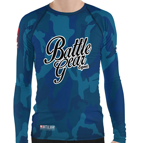 V4 Blue Camouflage Long Sleeve NO GI MMA Rashguard