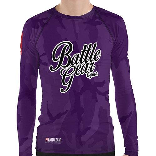 V4 Purple Camouflage Long Sleeve NO GI MMA Rashguard