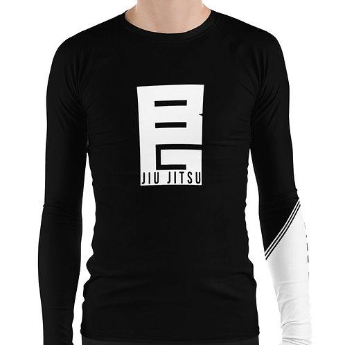 BG Jiu Jitsu Black Long Sleeve NO GI MMA Rashguard