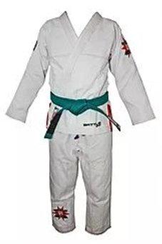 BATTLE KIDS BJJ Brazilian Jiu Jitsu White Kimono / Gi by Battle Gear