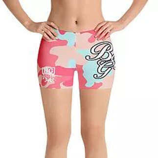 Arid Pink Camouflage Female Tight Grapple MMA Shorts