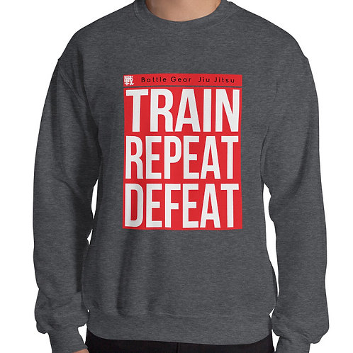 Train Repeat Defeat Jiu Jitsu Unisex Sweatshirt