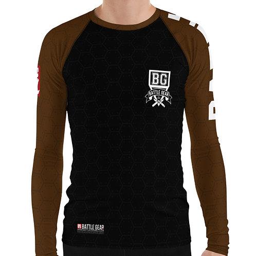 V3 Brown Long Sleeve NO GI / MMA Rashguard