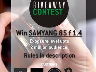 Samyang Lens Giveaway Contest