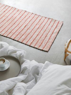 Stripe rug, burnt orange