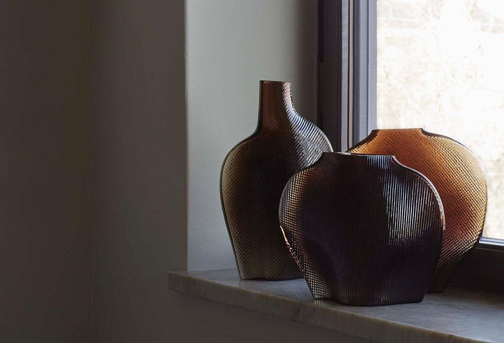 Formgatan Flow vases mocha Matias Moellenbach danish design