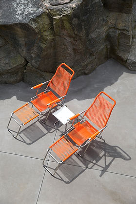 Fiam Spagetti Orange Club Table White 2