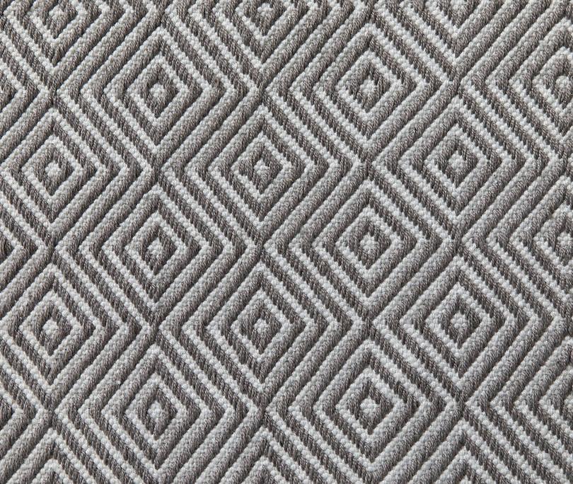 Diamond Rug, Grey