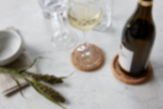 Formgatan naturally sustainable Cork Coasters and bottle trivet. Nordic Simplicity in it's purest shape.
