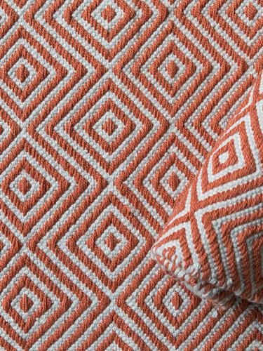 Diamond Rug, Burnt Orange