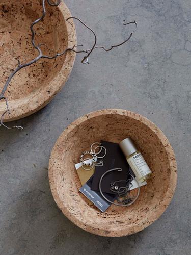 Formgatan_cork bowl natural S & M_pic 2.