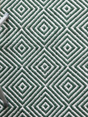 Diamond Rug, Green