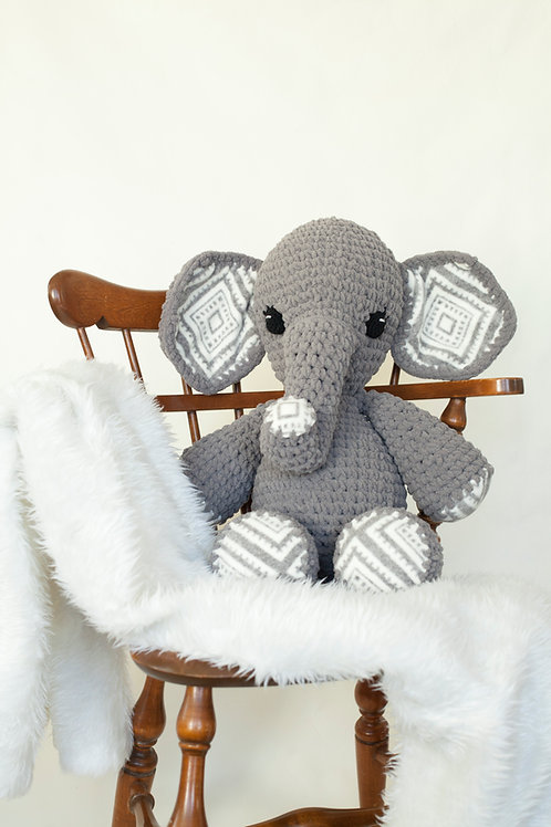 Large Amigurumi Elephant Pattern