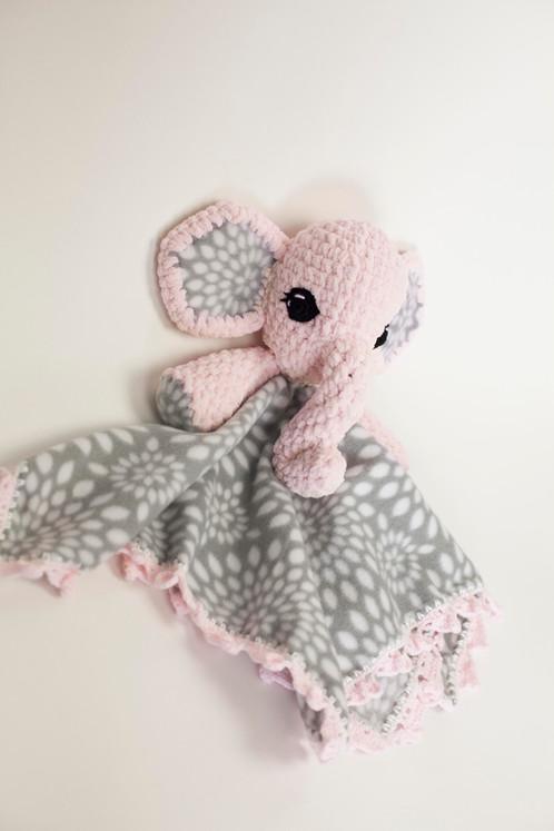 Baby Elephant Pattern Lovey Pattern