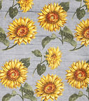 Luxe fleece fabric sunflowers on wood.jp