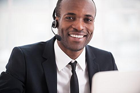 Customer service representative. Cheerfu