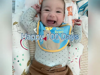 Baby V is 100 days old today!!!