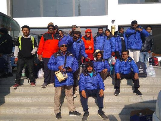 Our group at Nepalganj Hotel