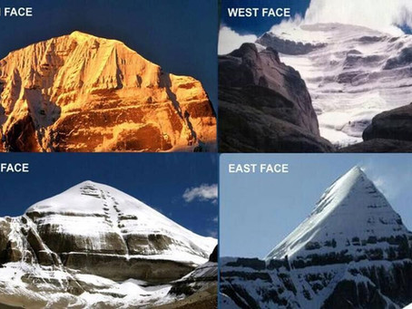 Four Faces of Mount Kailash