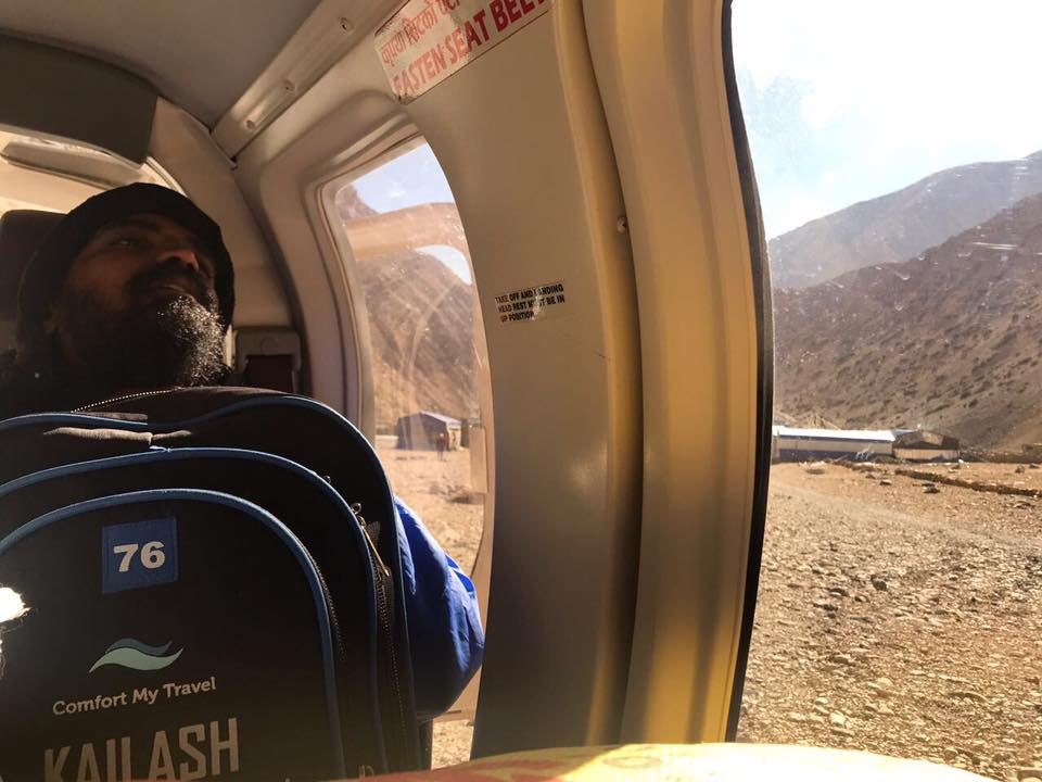 Kailash Yatra helicopter ride