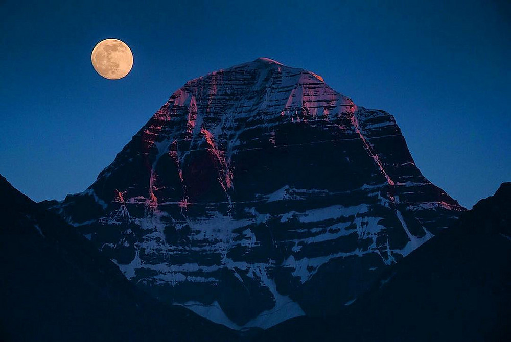 Mount Kailash on Full Moon