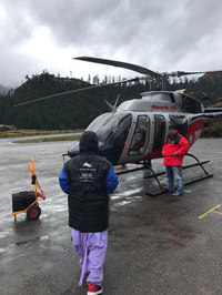 Helicopter ride during kailash Yatra