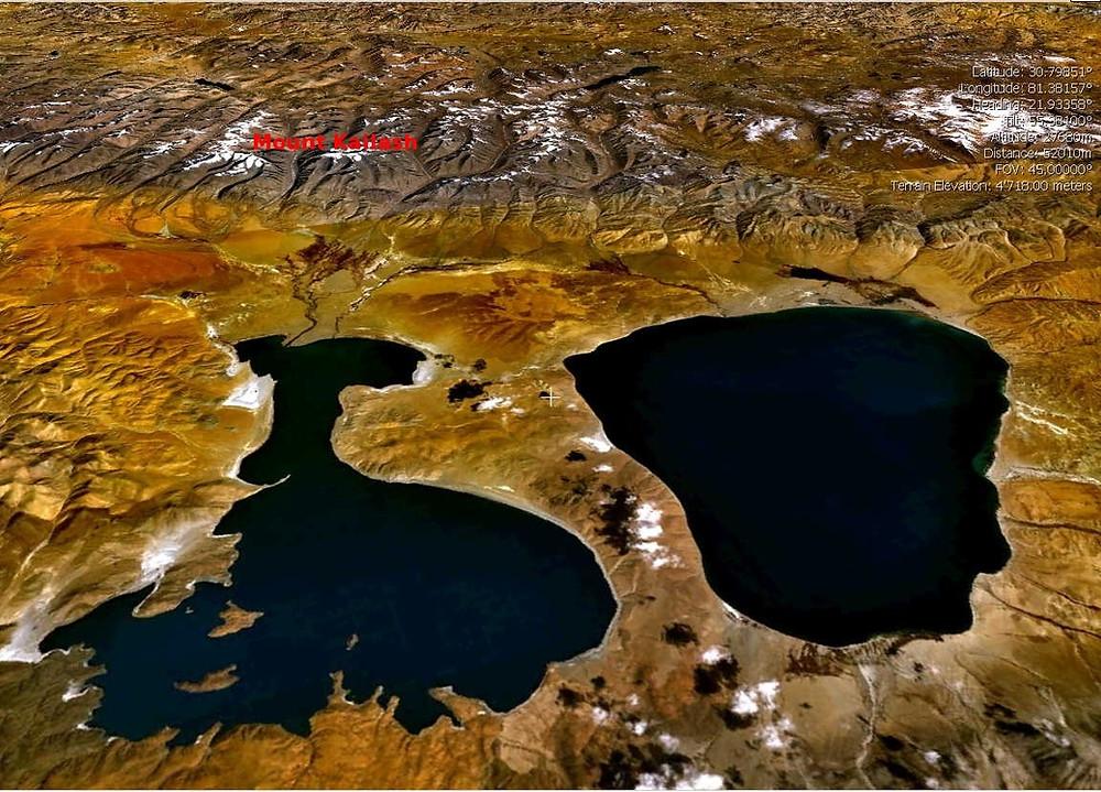 Mysteries Shaped Mansarovar Lakes