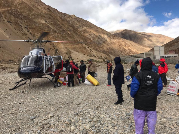 Helicopter ride to Hilsa during Kailash Yatra