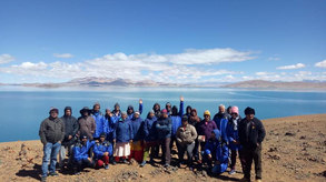 Our group at Lake Mansarovar