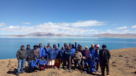 Our group at Lake Mansarovar