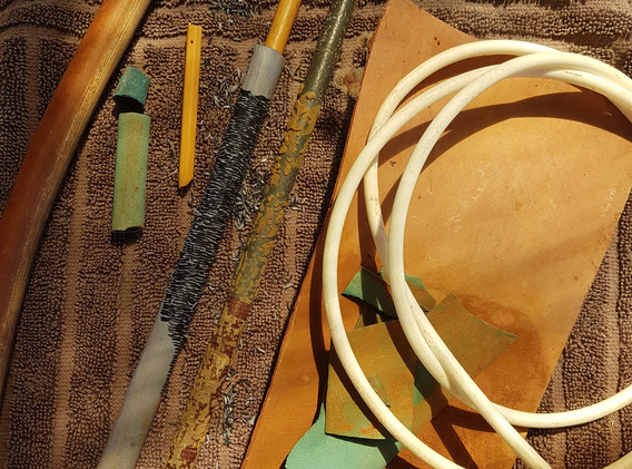 Found materials awaiting transformation
