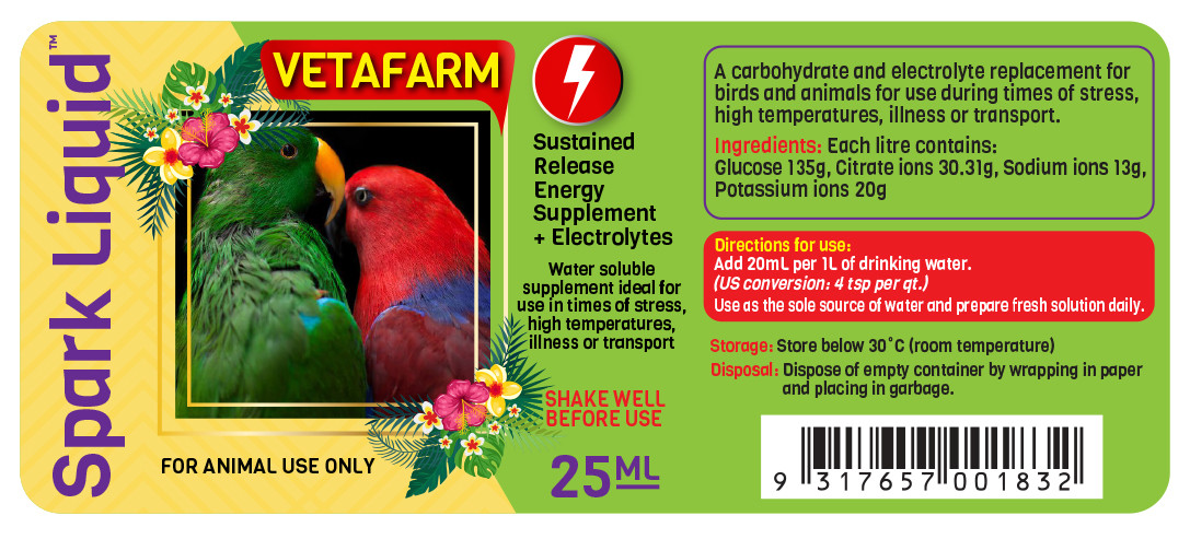Vetafarm Spark Liquid Digital Label