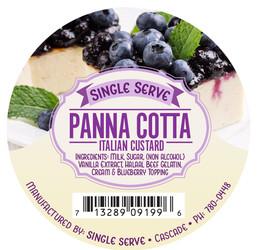 Single Serve Panna Cottat Digital Label