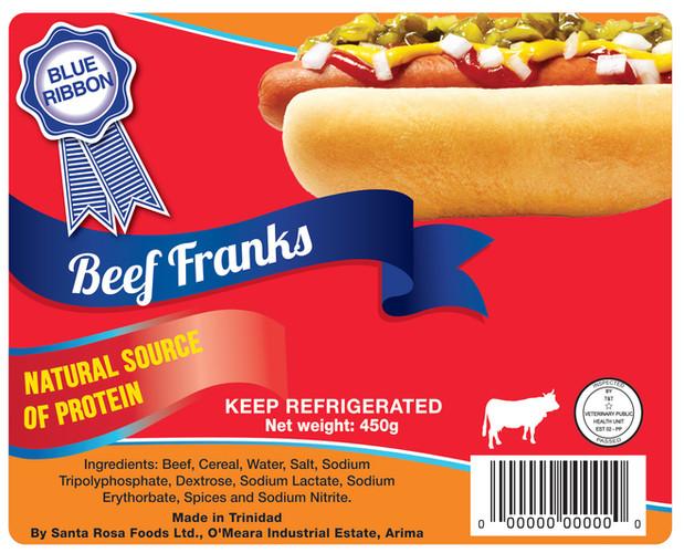 Blue Ribbon Beef Franks (Layout) - Flexo Label
