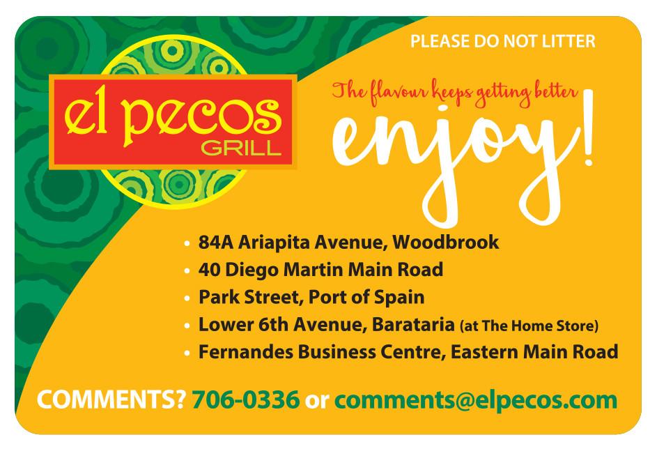 El Pecos Grill (Enjoy! Orange-Green) - Flexo Label
