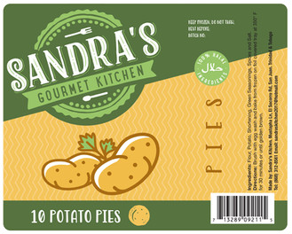 Sandra's Gourmet Kitchen - Flexo Label