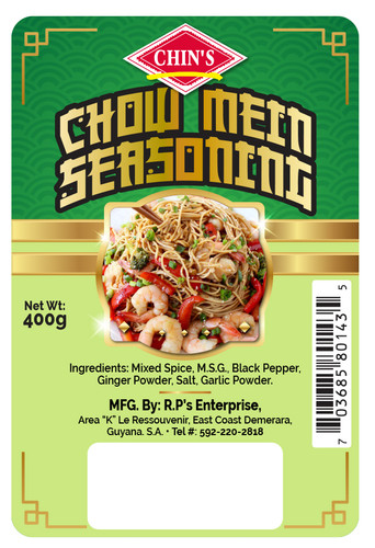 R.P.'s Ent. (Chin's Chow Mein Seasoning Digital Label
