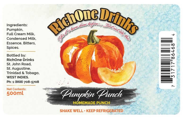 Rich One Drinks (Pumpkin Punch) Digital Label