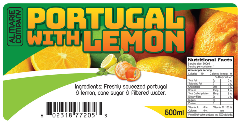 Rose Constance Portugal with Lemon Digital Label